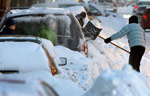 Горы снега в Монреале